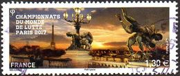 Oblitération Cachet à Date Sur Timbre De France N° 5165 - Championnats Du Monde De Lutte Paris - France