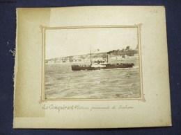 PHOTOGRAPHIE XIXeme : BOULOGNE-SUR-MER LE CONQUERANT BATEAU PROMENADE LE PORTEL PARTIE DE CROQUET 62 PAS-DE-CALAIS - Boulogne Sur Mer