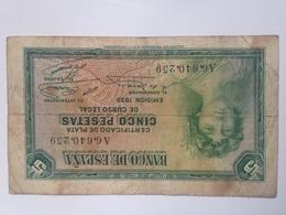 Billete 5 Pesetas. 1935. República Española - [ 2] 1931-1936 : République