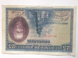 Billete 25 Pesetas. 1928. España. Rey Alfonso XIII. Calderón De La Barca - [ 1] …-1931 : Premiers Billets (Banco De España)