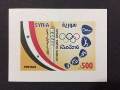 Syria 2016 2017 MNH SS Stamp Olympic Games In Rio Ultra Rare 300 Issued Only - Siria