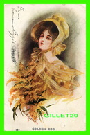 FANTAISIES FEMMES -  GOLDEN ROD -  TRAVEL IN 1909 - NATIONAL ART COMPANY - - Femmes