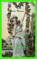 FANTAISIES FEMMES -  LOVE SAND KISSES - TRAVEL IN 1909 - 3/4 BACK - SERIE 108/2 - - Femmes