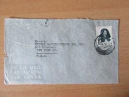 Portugal Vers Etats-Unis - Enveloppe Avec Timbre YT N°695 - Cachet 1947 - Marcophilie