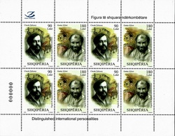 Albania Stamps 2018. Personalities: Claude Debussy; Gustav Klimt. Sheet MNH - Albania