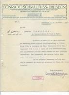 ALTE RECHNUNG - CONRAD E. SCHMALFUSS, DRESDEN 1912 - Deutschland