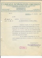 ALTE RECHNUNG - CONRAD E. SCHMALFUSS, DRESDEN 1912 - Germany