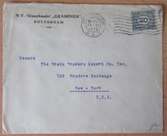 Pays-Bas / Nederland Vers Etats-Unis (New-York) - Enveloppe Avec Timbre 20 Cents YT N°105 - Cachet 1922 - Poststempel