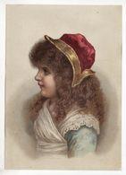 Chromo   Sans Pub   Femme Et Bonnet     Grand Format   18.5 X 13 Cm - Chromos