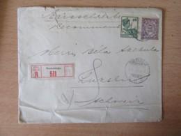 Pays-Bas / Indes Néerlandaises Vers Suisse - Recommandé Soerabaja Avec Timbres YT N°136 Et 140 - Cachet 1927 - Netherlands Indies