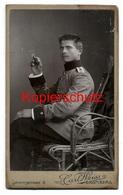 CDV Photo Militär, Junger Soldat, Hinterpommersches Feld-Artillerie-Regiment Nr 53, Bromberg Ca 1900, Atelier Carl Weiss - Anonyme Personen