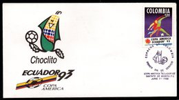 COLOMBIA- KOLUMBIEN- 1993. FDC/SPD. SOCCER. AMERICA CUP - Colombie