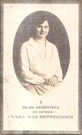 DP. CLARA VAN RENTERGHEM ° SCHUIFERSKAPELLE 1909 -+ 1934 - REGENTES - Religion & Esotérisme