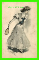 SPORTS, TENNIS - LADY PLAYING TENNIS IN 1920 - TRAVEL - - Tennis