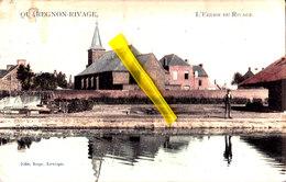 QUAREGNON-RIVAGE - L'Eglise Du Rivage - Carte Colorée - Quaregnon