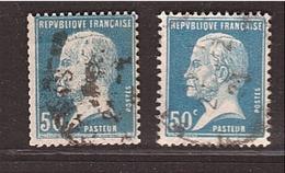 PASTEUR Roulette Du 50c Bleu - Yvert 176a ° - € 155.00 - Coil Stamps