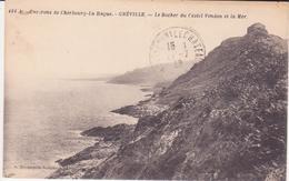 CPA - 461. Env De CHERBOURG LA HAGUE - GREVILLE Le Rocher Du Castel Vendon Et La Mer - Cherbourg