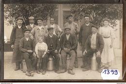1399 CARTE PHOTO GROUPE D OUVRIERS A IDENTIFIER 1905 TTB  TTB - Cartoline