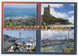 {79101} 50 Manche Saint Vaast La Hougue , Multivues ; Vue Générale Aérienne , Le Fort De La Hougue , Le Port - Saint Vaast La Hougue