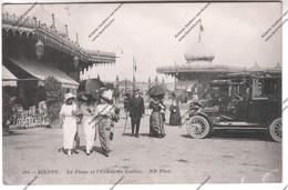 Rare CPA DIEPPE (76) : La Plage Et L'entrée Du Casino (tampon Hôpital Temporaire N°19) Expédié à 4eme Rgt Artillerie - Dieppe