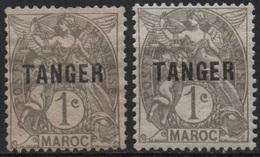 MAROC 1918-1924 - Timbre Type Blanc Surcharge Noire TANGER - Oblitéré Y&T N°80 - Maroc (1891-1956)