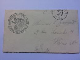 FRANCE WW1 Military Cover 1915 `Depot De Convalescents & D`Eclopes` Cachet - 1876-1898 Sage (Type II)