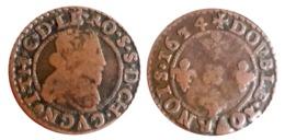 RARE!!! Jean-Théodore Double Tournois (Cugnon) 1634 CGKL R2 A VOIR!!! - 476-1789 Period: Feudal