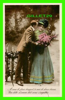 COUPLES - A VOUS LE FRAIS BOUQUET, À MOI LE DOUX BAISER ... - ÉCRITE -  WALERY, PARIS - Couples