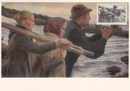 Finland 1985 Maxicard Scott #324 'In The Outer Archipelago' By Albert Edelfelt - Finlande