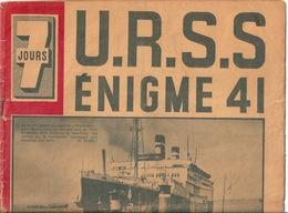 JOURNAL 7 Jours 29 Juin 1941 URSS - Newspapers
