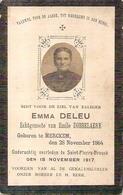 DP. EMMA DELEU ° MERCKEM 1864 + SAINT-PIERRE -BROUCK 1917 - Religion & Esotérisme