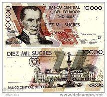 Equateur ECUADOR Billet 10000 Sucres 1999 P127 PRES. MONETRARIA NEUF UNC - Equateur