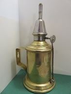 355 - Lampe Pigeon à Essence - Laiton Et Nickel Chromé - Étanchéité Au Plomb - Art Populaire