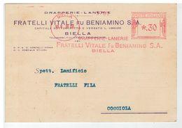 Cartolina Commerciale Biella - Drapperie Lanerie Fratelli Vitale Fu Beniamino SA - Biella