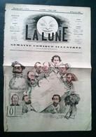 La Lune, 30 Décembre 1866. Daniel Lévy, Halo, Ops, Blondet, Polo, Pépin,Carlo Gripp Et Gill. - Newspapers