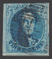 COB N° 11 - Variété - Ligne Horizontale De La Couleur Du Timbre Traverse La Figure De L'Effigie - 1849-1865 Medallions (Other)