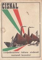 UNIONE PROVINCIALE DEL LAVORO  /   Tessera _ CISNAL - Documenti Storici