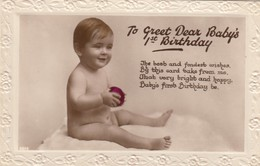 FANTASY / BABY / 1 ST BIRTHDAY / RELIEF CARD - Bébés