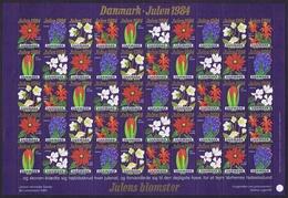 Denmark; Christmas Seals.  Full Sheet 1984; Christmas Flowers;  MNH (**) - Hojas Completas