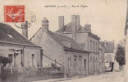 41 AUTHON . CPA . RUE DE L'EGLISE. ANNEE 1912 + TEXTE - Francia