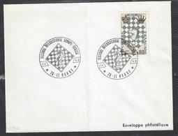 Chess, France Le Havre, 11.04.1966, Special Cancel On Envelope - Ajedrez