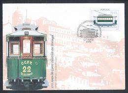 100 Years Electric Car Of Rails In Portugal.100 Jahre Elektroauto Von Schienen In Portugal.Electrical 22 Of 1895.Museum. - Tranvías