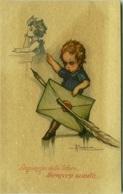 BUSI SIGNED POSTCARD 1910s - LINGUAGGIO DELLE LETTERE - SCRIVIMI SUBITO - DEGAMI 663 RARE  (BGI1) - Busi, Adolfo