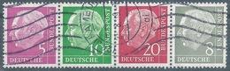 "W20/W21  ""Heuss"" 5 + 10 + 20 + 8 Pf.lila/grün/rot/grau           1959 - [7] República Federal"
