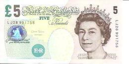 Great Britain   5 Pounds  1988-91  UNC - 1952-… : Elizabeth II