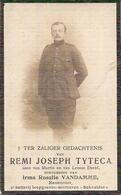 "DP. OORLOG 14-18  REMI TYTECA ° EGGEWAERTSCAPELLE 1892 - + ADINKERKE KRIJGSHOSPITAAL ""CABOUR""1918 - Religion & Esotérisme"