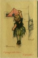 BUSI SIGNED POSTCARD 1910s - LINGUAGGIO DELLE LETTERE - T'ASPETTO - DEGAMI 663 RARE  (BGI3) - Busi, Adolfo