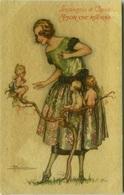 BUSI SIGNED POSTCARD 1910s - LINGUAGGIO DI CUPIDO - AMOR CHE RITORNA - DEGAMI 689 RARE  (BGI4) - Busi, Adolfo