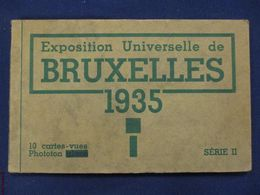 CARNET DE 10 CPA : BRUXELLES EXPOSITION UNIVERSELLES 1935 BELGIQUE EXHIBITION - Expositions Universelles