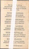 DP. OORLOG 40-45   5 SLACHTOFFERS DOOR LUCHTAANVAL TE KOKSIJDE 8/4/1944 - Religion & Esotérisme